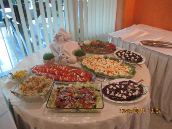Barlinek, Polandia: Aften buffet