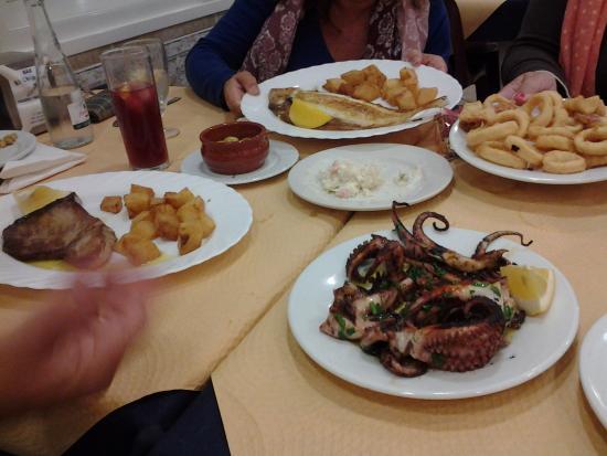 platos de mariscos
