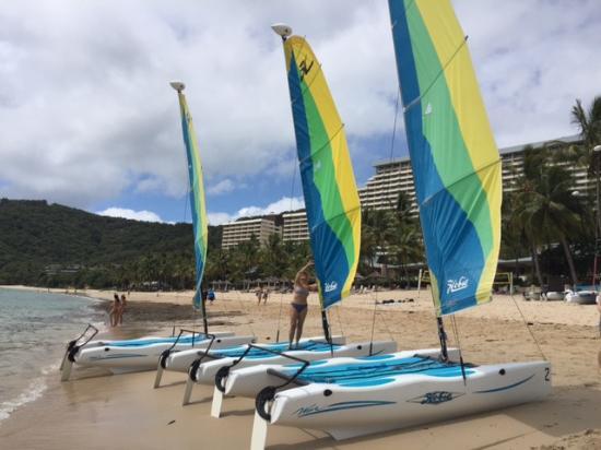 Reef View Hotel: Oferecem vários esportes aquáticos, valores incluidos na diária.