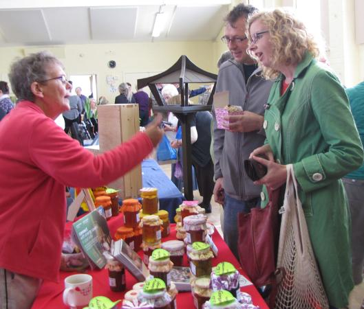 North Kessock, UK: Buying jams from Sylvia