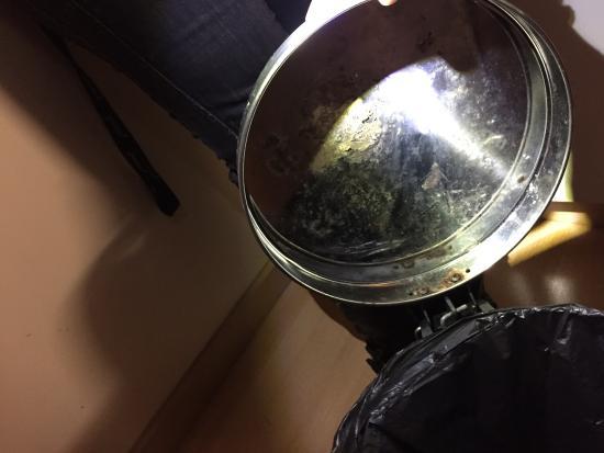 Adonis Excellior Grand Geneve: poubelle avec résidus alimentaires collés dans le couvercle
