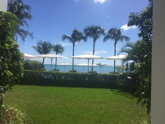 Mon Choisy Beach Resort: This captures how beautiful the view is from the apartment hotel