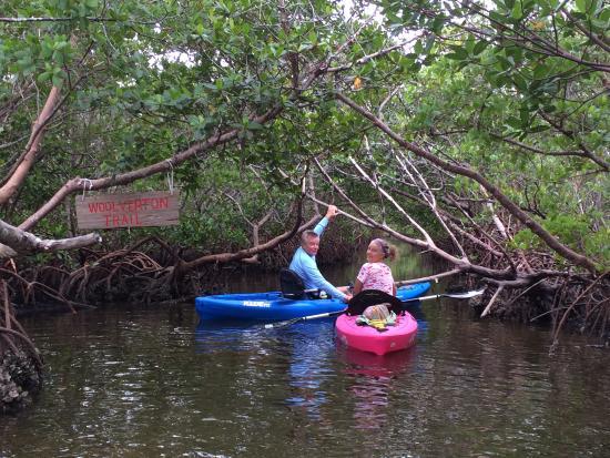 Placida, Φλόριντα: Entering the Wolverton Trail Mangrove Tunnels