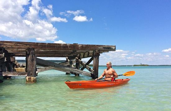 Placida, FL: Paddling in the clear water of the Gasparilla Sound