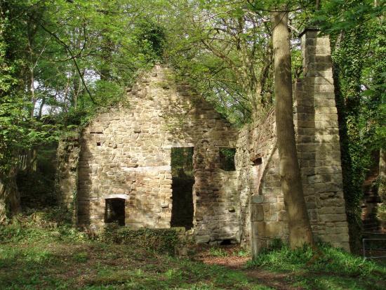 Matlock, UK: ruined mill building