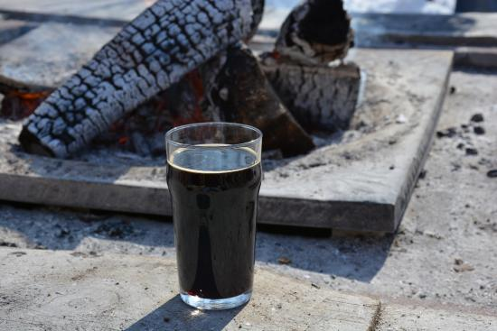 Suttons Bay, MI: Drinking A Beer By The Bonfire