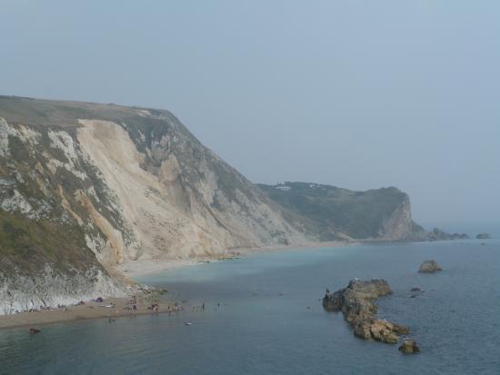 West Lulworth, UK: The Dorset coastline beyond Durdle door