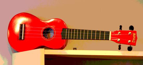 Great Bardfield, UK: The Red Uke!
