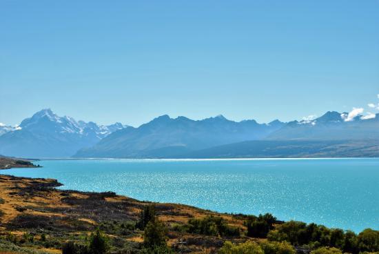Lake Pukaki And Aoraki Mount Cook From Peter S Lookout