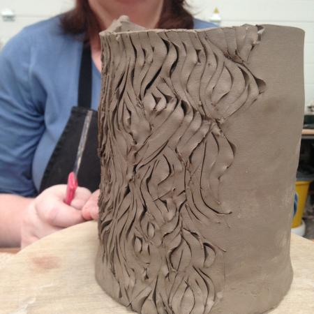 South Molton, UK: Textured vessel