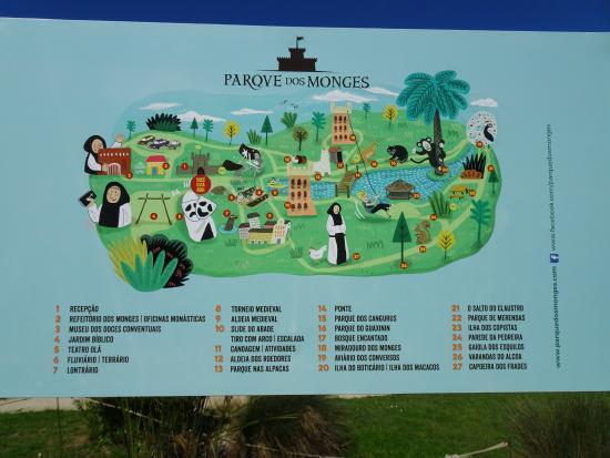 Mapa Picture Of Parque Dos Monges Alcobaca Tripadvisor