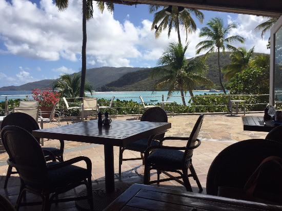 The Pavillion at Little Dix Bay: Breakfast View Extraordinaire