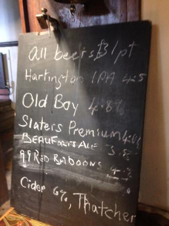 Kirk Ireton, UK: Beer prices