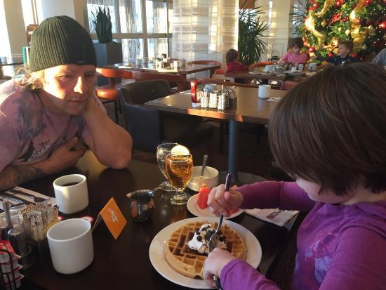 Hilton Garden Inn West Edmonton : Best hotel breakfast ever! (Don't sit near doors in winter though! brrrr)