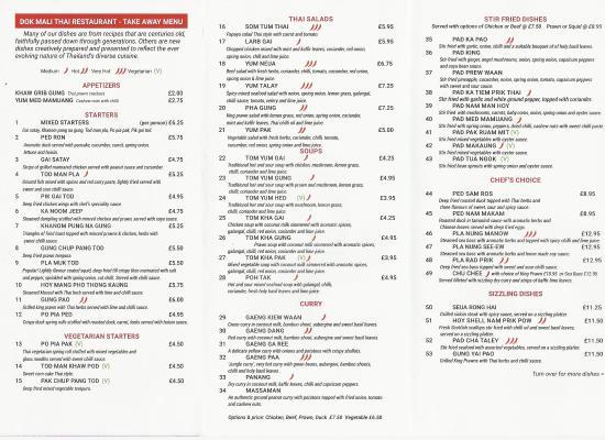 Thai tasty menu / Hotel prices in savannah ga