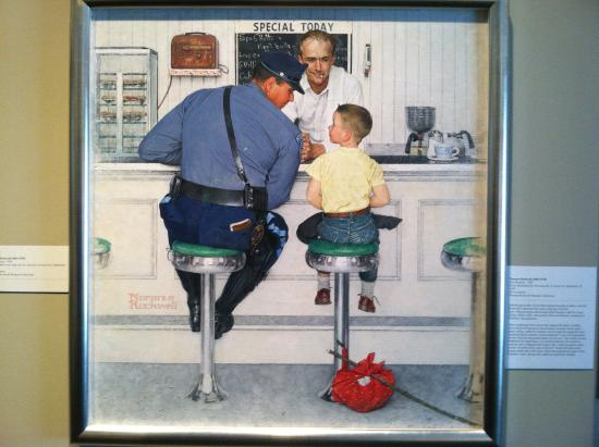 Joe's Diner: Rockwell's painting set in the diner