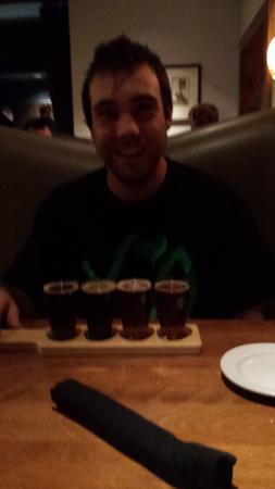 Gustav's German Pub & Grill: Celebrating my son's birthday, loved the beer sampler.