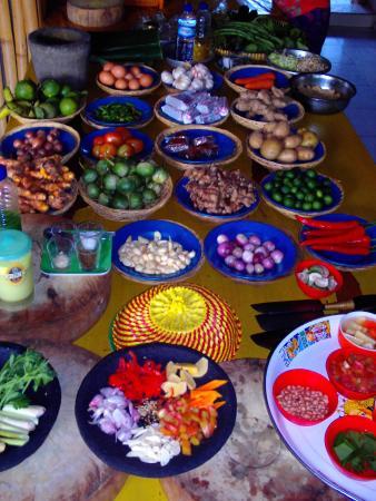 Bali Manggang Cooking Class: Some of the wonderful, fresh ingredients.