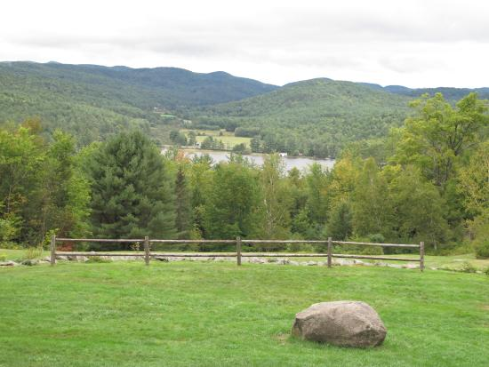 Fairlee, VT: This was the backdrop for the ceremony, held by the fence.