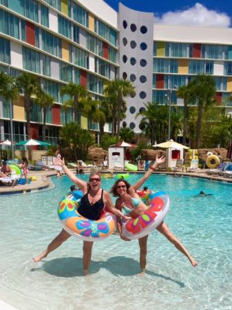 Universal S Cabana Bay Beach Resort Pool Area With Lazy River 1 Of 2 Pools