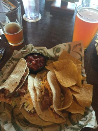 Hop Jack's: Fish tacos.. Very good.  You get 3 tacos, more than enough to fill me up.