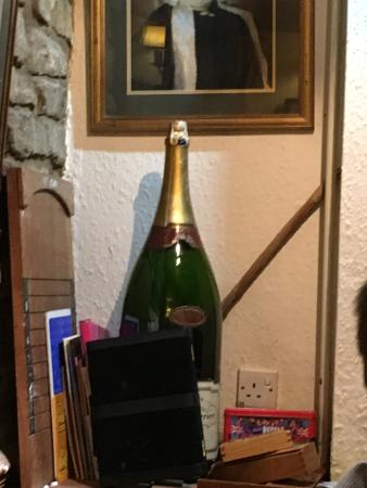 The Old White Hart: Thats a bottle of champagne