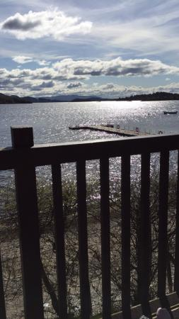 Lodge on Loch Lomond: Our view from the balcony!