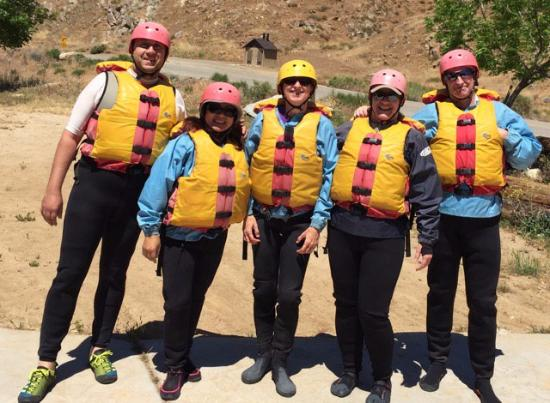 Mountain & River Adventures: Our group at the put-in