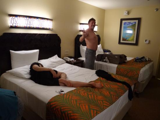 Disney S Caribbean Beach Resort That About The Size Of Room Extra Bed