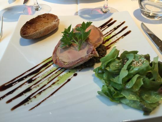 Hambye, Frankreich: Foie gras starter