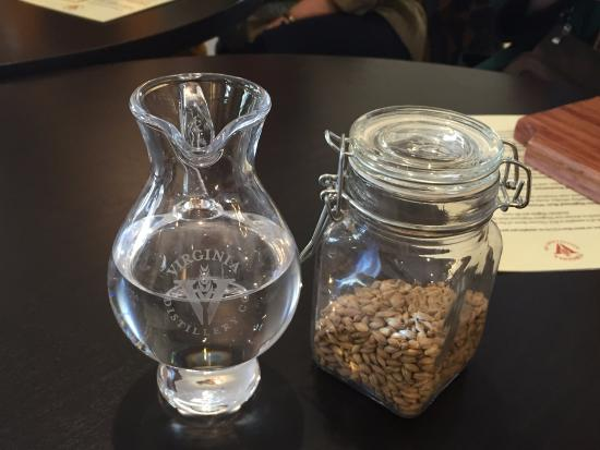 Lovingston, VA: Table center pieces, water and barley