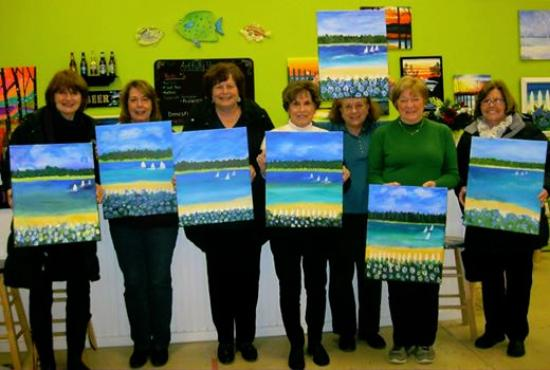 Artfully Yours Paint Bar: We had a fun time painting at artfully yours