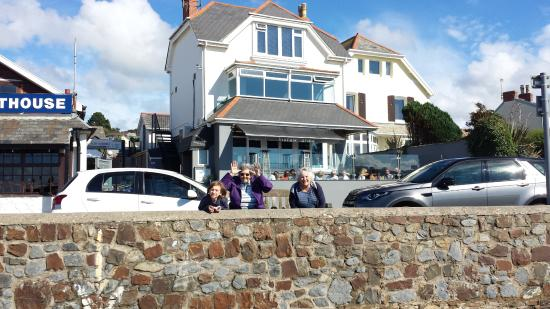 Instow Arms, cuppa to warm through or great food with great beach views.