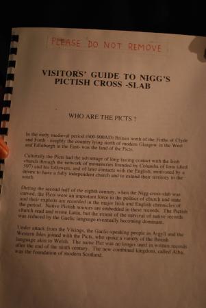 Info sheet at Nigg Church.