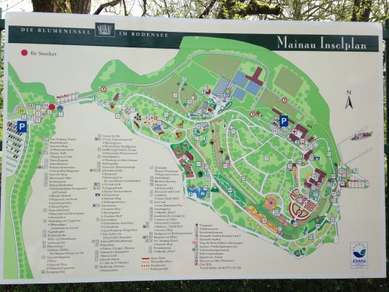 Insel Mainau Karte.Inselplan Picture Of Isle Of Mainau Konstanz Tripadvisor