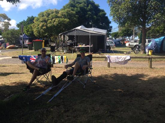 Patonga, Australia: looking back at the campground from the creek