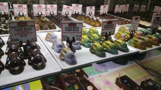 Port Washington, WI: Easter Bunny truffles at Chocolate Chisel