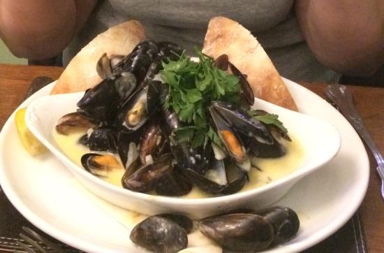 Parkend, UK: Mussels as a starter