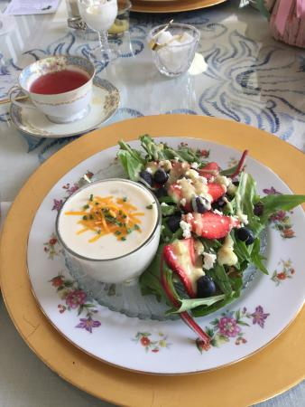 Ridgeway, Carolina Selatan: soup and salad