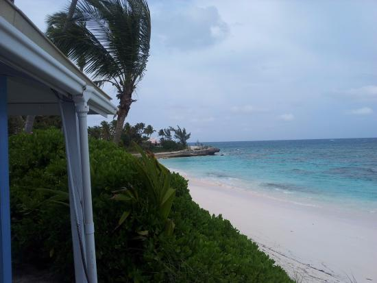 Treasure Cay, Great Abaco Island: the view from the Harbour House bar/restaurant