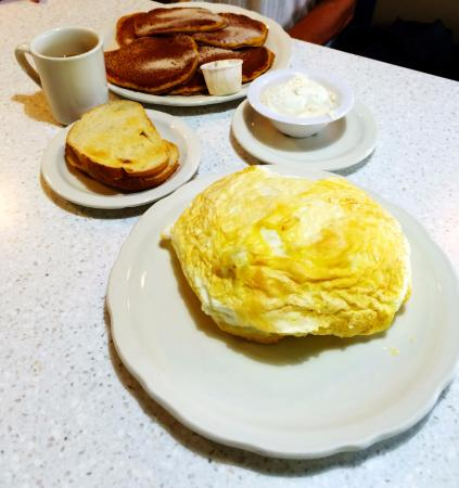 The Original Pancake House: PUMPKIN PANCAKES FOR ME. THIS WAS THE OMELET FOR MY HUSBAND!