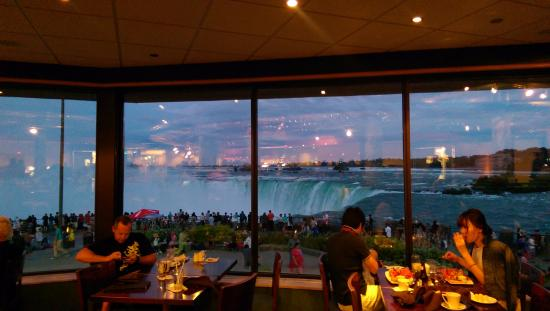 Niagara Falls View From Elements On The Restaurant Pricey