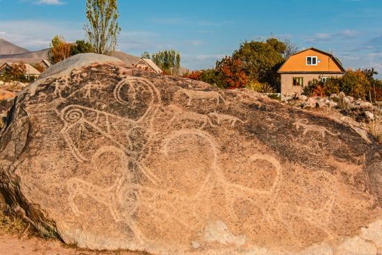 Cholpon Ata, Kirguistán: un petroglifo