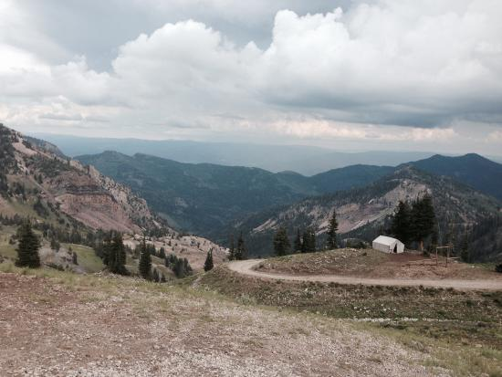 Snowbird, UT: HIke down from gondola to tunnel