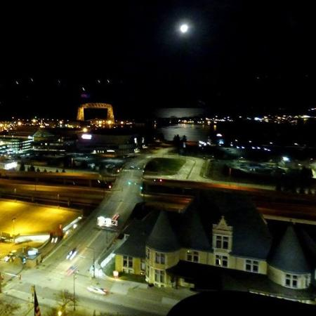 Radisson Hotel Duluth Harborview Mn From Restaurant On The Top Floor Of