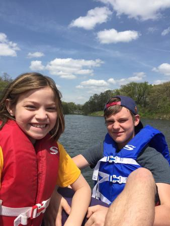 Moberly, MO: A day of paddle boating and fishing .