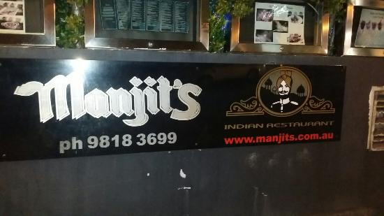 Balmain, Australia: Manjit's Indian Restaurant
