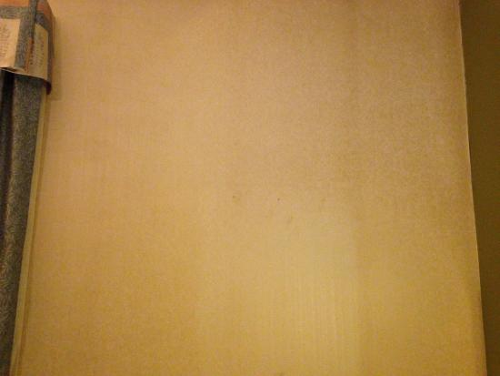 Sleep Inn & Suites Upper Marlboro near Andrews AFB: wall paper, stains closer view.