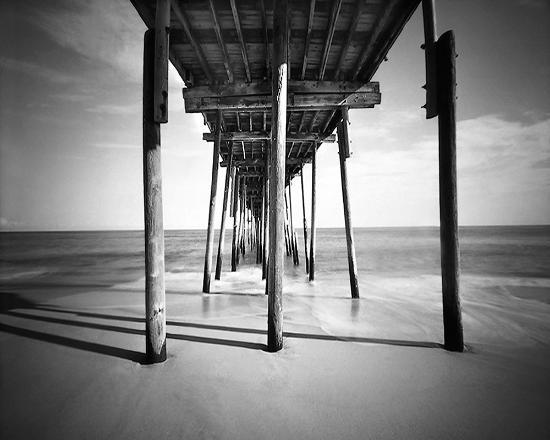 Avalon Fishing Pier : A npinhole photo under the pier bt W.P. Thayer Fine Art