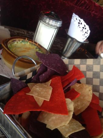 Witches Brew INC: spinach & artichoke dip w/ chips